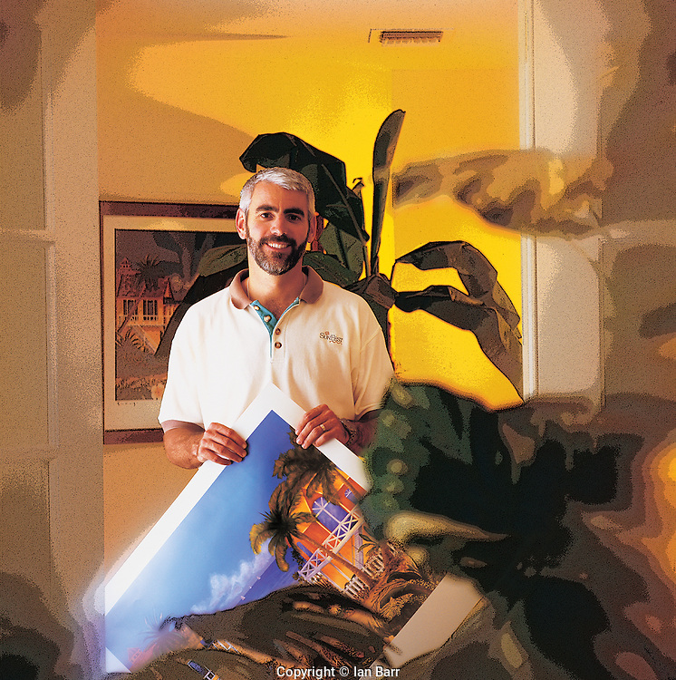 portrait of Paul Jamieson for printers brochure.