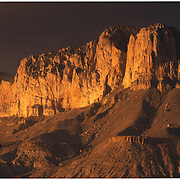 El Capitan at sunset in Guadalupe Mountains National Park, TX.