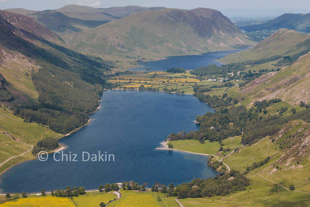 View from Fleetwith Pike over Buttermere