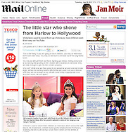 Sophia Grace and Rosie Grace McClelland / You Tube Sensation / Mailonline 18th November.