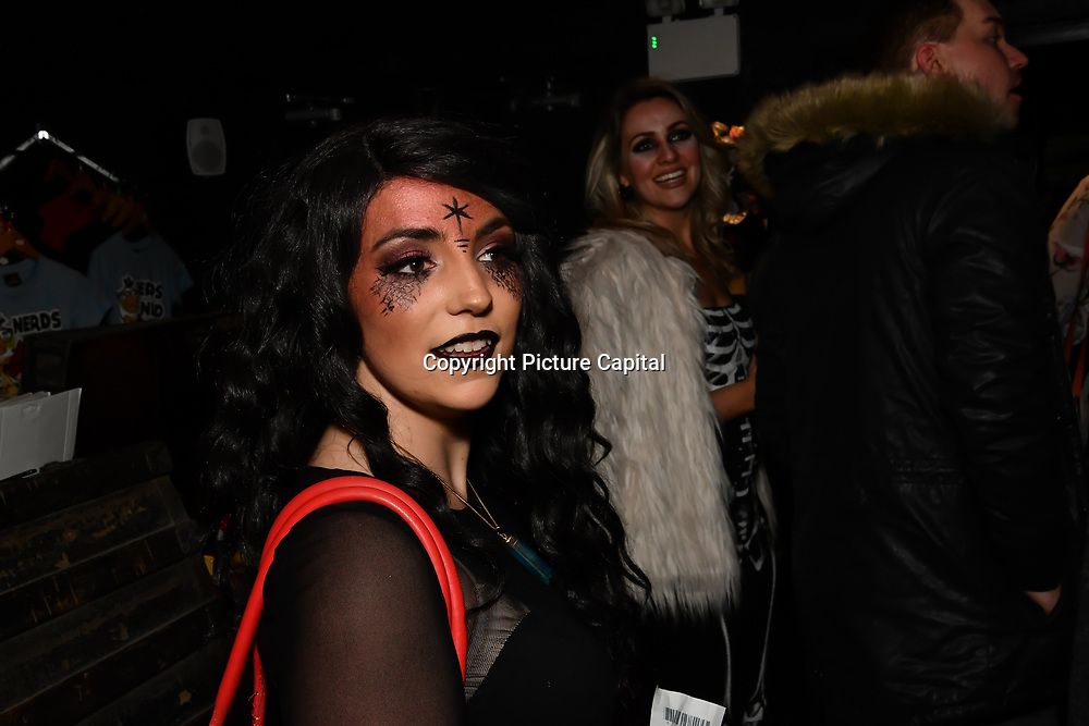 Lili Rose attend BBC1 All Together Now Series 1 Cast Members, fright night at The London Bridge Experience & London Tombs on 28 October 2018, London, UK.