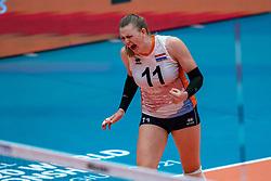 Elles Dambrink of Netherlands celebrates during United States - Netherlands, FIVB U20 Women's World Championship on July 15, 2021 in Rotterdam