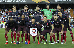 May 9, 2019 - Valencia, Valencia, Spain - Alignament of Arsenal in action during UEFA Europa League football match, between Valencia and Arsenal, May 09th, in Mestalla stadium in Valencia, Spain. (Credit Image: © AFP7 via ZUMA Wire)