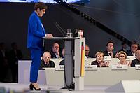 22 NOV 2019, LEIPZIG/GERMANY:<br /> Wolfgang Schaeuble, CDU, Praesident des Deutschen Bundestages, Angela Merkel, CDU, Bundeskanzlerin, und Ursula von der Leyen, CDU, gewaehlte Praesidentin der Europaeischen Kommission (hinten v.L.n.R.), waehrend der Rede von Annegret Kramp-Karrenbauer (vorne), CDU Bundesvorsitzende und Bundesverteidigungsministerin, CDU Bundesparteitag, CCL Leipzig<br /> IMAGE: 20191122-01-068<br /> KEYWORDS: Parteitag, party congress, Applaus, applaudiren, klatschen, Wolfgang Schäuble