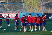 Training of Spanish national team under 21 at Ciudad del El futbol  in Madrid, Spain. March 21, 2017. (ALTERPHOTOS / Rodrigo Jimenez)