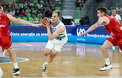 Klemen Prepelic of Slovenia during friendly basketball match between National teams of Slovenia and Croatia, on June 18, 2021 in Arena Stozice, Ljubljana, Slovenia. Photo by Vid Ponikvar / Sportida