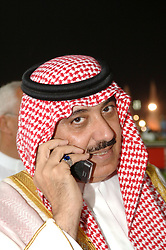 Saudi Prince Meteeb Bin Abdullah Bin Abdul Aziz Al Saud, son of the Saudi Crown Prince, attends the 10th edition of the 'Dubai World Cup', the world's richest horse race, won by 'Roses In May' (USA) and his owner American Kenneth Ramsey, in Dubai on 26 March 2005. Photo by Ammar Abd Rabbo/ABACA.  | 75474_10 Dubai Emirats Arabes Unis United Arab Emirates