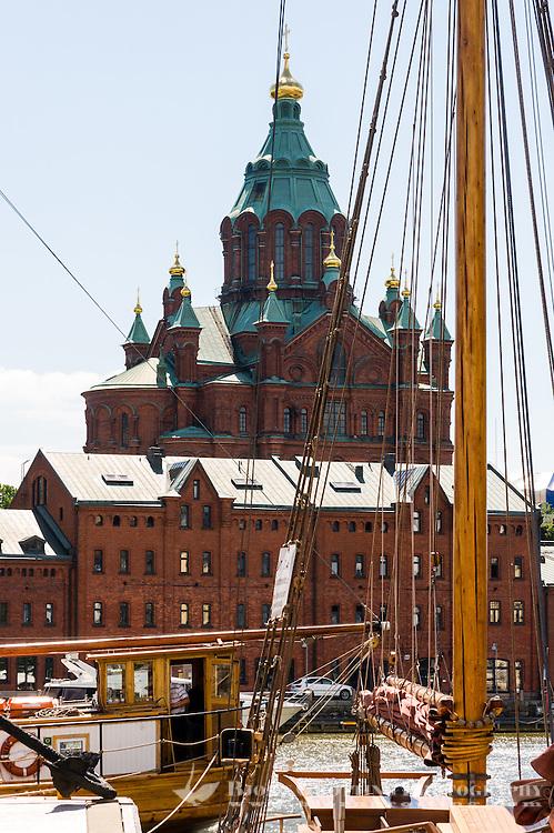 Finland, Helsinki. The Uspenski Cathedral.