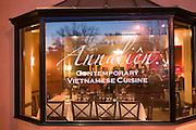 Annalien Vietnamese Restaurant in downtown Napa, California. Napa Valley.