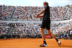 May 20, 2018 - Rome, Italy - Alexander Zverev of Germany in action during the Mens Singles final match between Rafael Nadal and Alexander Zverev on Day Eight of the The Internazionali BNL d'Italia 2018 at Foro Italico on May 20, 2018 in Rome, Italy. (Credit Image: © Matteo Ciambelli/NurPhoto via ZUMA Press)