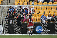 04 December 2011: Stanford's Emily Oliver (19) makes a save late in the game on Duke's Kaitlyn Kerr (not pictured). The Stanford University Cardinal defeated the Duke University Blue Devils 1-0 at KSU Soccer Stadium in Kennesaw, Georgia in the NCAA Division I Women's Soccer College Cup Final.