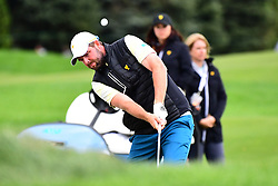 September 30, 2017 - Jersey City, New Jersey, U.S - Marc Leishman of the International Team chips onto the 8th green during Saturday matches of the Presidents Cup at Liberty National Golf Club in Jersey City, NJ  (Credit Image: © Brian Ciancio via ZUMA Wire)