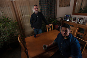 COLUMBIA, MD -- 12/20/14 -- Mark Johnson-Lewis, 48, and his son, Tyler Lewis, 22, talk about the complexity of being a biracial family..…by André Chung #_AC17510