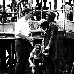 HS383     George W. Bush talks with workers in the Midland, TX, oil fields while campaigning for Congress, 1978.<br /> Photo Credit:  George Bush Presidential Library