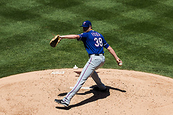 June 3, 2018 - Anaheim, CA, U.S. - ANAHEIM, CA - JUNE 03: Texas Rangers starting pitcher Doug Fister (38) during the MLB regular season game against the Los Angeles Angels of Anaheim on June 03, 2018 at Angel Stadium of Anaheim in Anaheim, CA. (Photo by Ric Tapia/Icon Sportswire) (Credit Image: © Ric Tapia/Icon SMI via ZUMA Press)
