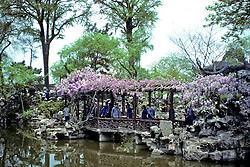 Flowered Bridge On Water