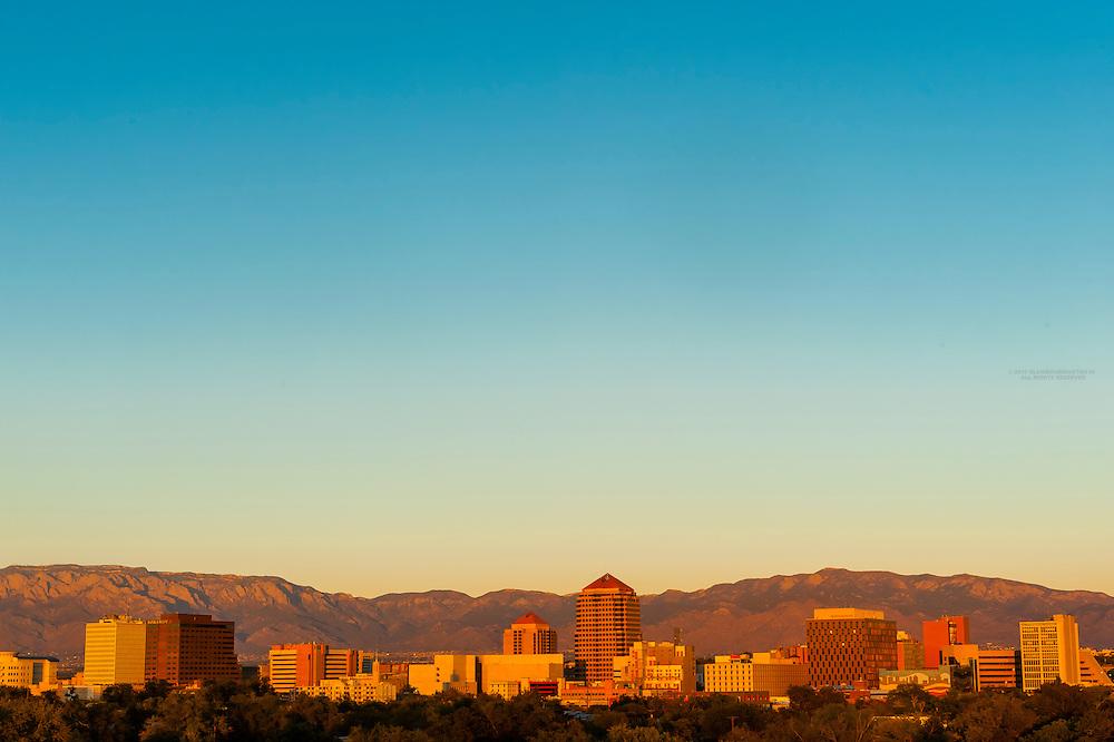Skyline of downtown Albuquerque, New Mexico USA