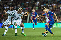August 7, 2017 - Barcelona, Catalonia, Spain - FC Barcelona defender DIGNE during the Joan Gamper Trophy between FC Barcelona and Chapecoense at the Camp Nou stadium in Barcelona (Credit Image: © Matthias Oesterle via ZUMA Wire)
