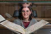 Alba Fedeli, who was studying items in the Mingana Collection of Middle Eastern Manuscripts for her PhD thesis Early Qur'ānic manuscripts, their text, and the Alphonse Mingana papers held in the Department of Special Collections of the University of Birmingham, found the two leave. <br /> ___<br /> A Qur'an manuscript held by the University of Birmingham has been placed among the oldest in the world thanks to modern scientific methods.<br /> <br /> Radiocarbon analysis has dated the parchment on which the text is written to the period between AD 568 and 645 with 95.4% accuracy. The test was carried out in a laboratory at the University of Oxford. The result places the leaves close to the time of the Prophet Muhammad, who is generally thought to have lived between AD 570 and 632.<br /> <br /> The Qur'an manuscript will be on public display at the University of Birmingham from Friday 2 October until Sunday 25 October and then at the Birmingham Museum and Art Gallery in 2016.