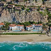 Aerial view of house development in Palmilla. San Jose del Cabo. Baja California Sur, Mexico.