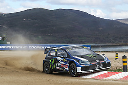 April 28, 2018 - Montalegre, Vila Real, Portugal - Petter SOLBERG (NOR) in Volkswagen Polo R of PSRX Volkswagen Sweden in action during the World RX of Portugal 2018, at Montalegre International Circuit, on April 28, 2018 in Montalegre, Portugal. (Credit Image: © Dpi/NurPhoto via ZUMA Press)