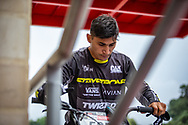 2021 UCI BMXSX World Cup<br /> Round 4 at Bogota (Colombia)<br /> 1/8 Final<br /> ^me#595 MOLINA, Gonzalo (Elite Men, Argentina) Stay Strong
