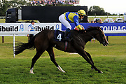 Hollywood Waltz ridden by Raul Da Silva and trained by Mick Channon in the Sds Maiden Auction Stakes race.  - Ryan Hiscott/JMP - 02/08/2019 - PR - Bath Racecourse - Bath, England - Race Meeting at Bath Racecourse