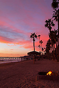 Bonfire At Sunset On The Beach Of San Clemente