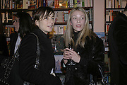 Francesca  Amfiterof and Nina Jones, Book launch of Pretty Things by Liz Goldwyn at Daunt <br />