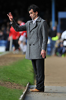Photo: Tony Oudot/Richard Lane Photography. <br /> Southend United v Swansea City. Coca-Cola League One. 21/03/2008. <br /> Swansea manager Roberto Martinez relays instructions from the sidelines