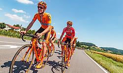 05.07.2017, Altheim, AUT, Ö-Tour, Österreich Radrundfahrt 2017, 3. Etappe von Wieselburg nach Altheim (226,2km), im Bild Patryk Stosz (POL, CCC Sprandi Polkowice), Felix Grossschartner (AUT, CCC Sprandi Polkowice) // Patryk Stosz (POL, CCC Sprandi Polkowice), Felix Grossschartner (AUT, CCC Sprandi Polkowice) during the 3rd stage from Wieselburg to Altheim (199,6km) of 2017 Tour of Austria. Altheim, Austria on 2017/07/05. EXPA Pictures © 2017, PhotoCredit: EXPA/ JFK