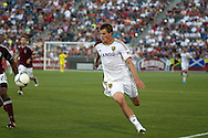 August 4, 2012: Real Salt Lake forward Justin Braun (13) goes after a pass in the first half against the Colorado Rapids at Dick's Sporting Goods Park in Denver, Colorado