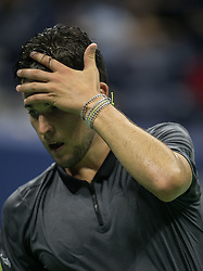September 4, 2018 - Flushing Meadows, New York, U.S - Dominic Thiem reacts after missing an overhead during his match against Rafael Nadal on Day 9 of the 2018 US Open at USTA Billie Jean King National Tennis Center on Tuesday September 4, 2018 in the Flushing neighborhood of the Queens borough of New York City. (Credit Image: © Prensa Internacional via ZUMA Wire)