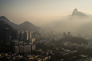 Rio de Janeiro at sunset on the day that Brazil drew 0-0 with Mexico. Photo by Andrew Tobin/Tobinators Ltd