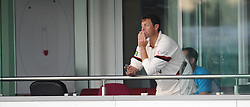 Somerset captain Marcus Trescothick looks on as the rain falls - Mandatory byline: Alex Davidson/JMP - 07966386802 - 22/08/2015 - Cricket - County Ground -Taunton,England - Somerset CCC v Worcestershire CCC - LV= County Championship Division One - Day 3
