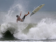 Opportunistic surfers took advantage of tropical storm Hanna waves at the beach at 67 Ave. North in Myrtle Beach, SC.