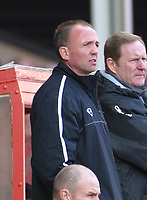 Photo: Dave Linney.<br />Walsall v Oldham Athletic. Coca Cola League 1. 18/02/2006Walsall caretaker mgr .Mick Halsall(second from left)