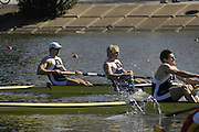 Seville. SPAIN, 18.02.2007, GBR M2- bow Peter REED and Andy TRIGGS HODGE, competing in Sundays final, at the FISA Team Cup, held on the River Guadalquiver course. [Photo Peter Spurrier/Intersport Images]    [Mandatory Credit, Peter Spurier/ Intersport Images]. , Rowing Course: Rio Guadalquiver Rowing Course, Seville, SPAIN,