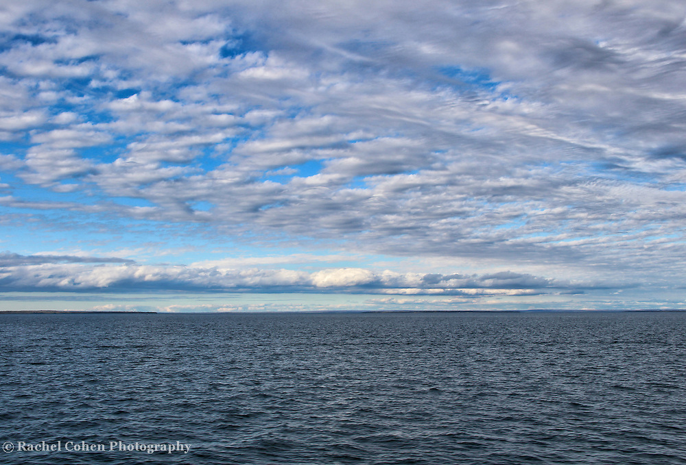 """""""Straits of Mackinac""""<br /> <br /> Enjoy the beautiful waters, and magnificent endless sky near Mackinac Island in the Straits of Mackinac!!<br /> <br /> The Great Lakes by Rachel Cohen"""