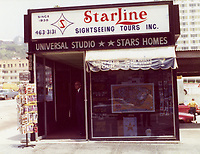 1975 Starline Sightseeing Tours building on Hollywood Blvd.