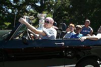 24 August 2002: Actor, Producer & Writer John Paul Cusack, 36 drives NHL Detroit Red Wings hockey player Chris Chelio's Scout along Pacific Coast Highway 1 with the NHL Stanley Cup and friends in Malibu, California. .