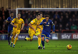 Billy Bodin of Bristol Rovers gets away from Dannie Bulman of AFC Wimbledon - Mandatory byline: Robbie Stephenson/JMP - 07966 386802 - 26/12/2015 - FOOTBALL - Kingsmeadow Stadium - Wimbledon, England - AFC Wimbledon v Bristol Rovers - Sky Bet League Two