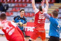 Rok Zuran of RK Jeruzalem Ormoz during handball match between RD LL Grosist Slovan and RK Jeruzalem Ormoz in 1st round of Playoffs of 1st NLB Leasing League 2017/18, on March 9, 2018 in Sports hall Kodeljevo, Ljubljana, Slovenia. Photo by Urban Urbanc / Sportida