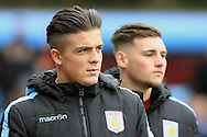 Jack Grealish of Aston Villa looks on before the match.<br /> Barclays Premier League match, Aston Villa v AFC Bournemouth at Villa Park in Birmingham, The Midlands on Saturday 09th April 2016.<br /> Pic by Ian Smith, Andrew Orchard Sports Photography.