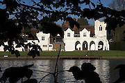 Medmenham Abbey was a ruined 12th century abbey before it was taken over by Sir Francis Dashwood and the Monks of Medmenham (aka Knights of Saint Francis) in the 18th century.