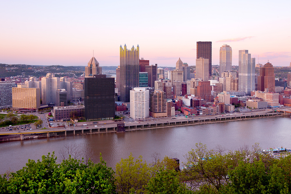 Panoramic view of downtown Pittsburgh, Pennsylvania, United States
