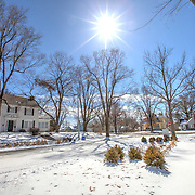 Photos for Kansas City Water Services of landscaping and bioretention gardens after snowfall.
