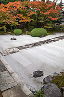 Myokenji Shikai Shodo Garden was designed to entertain guests. Shikai Shodo means 'lead people to the teaching of lotus sutra'. Stones stacked in the trees was meant to convey a waterfall.