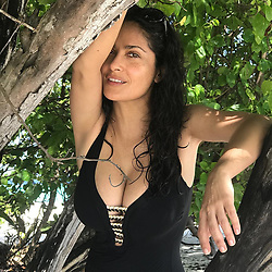 """Salma Hayek releases a photo on Instagram with the following caption: """"#nature #naturaleza"""". Photo Credit: Instagram *** No USA Distribution *** For Editorial Use Only *** Not to be Published in Books or Photo Books ***  Please note: Fees charged by the agency are for the agency's services only, and do not, nor are they intended to, convey to the user any ownership of Copyright or License in the material. The agency does not claim any ownership including but not limited to Copyright or License in the attached material. By publishing this material you expressly agree to indemnify and to hold the agency and its directors, shareholders and employees harmless from any loss, claims, damages, demands, expenses (including legal fees), or any causes of action or allegation against the agency arising out of or connected in any way with publication of the material."""