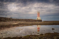 Garðskagaviti (Lighthouse) on the Reykjanes Peninsula in Iceland. Semester at Sea, Spring 2014 Enrichment Voyage. Composite of 3 images taken with a Leica X2 camera (ISO 100, 24 mm, f/6.3). Raw image processed with NIK HDR Efex Pro, Capture One Pro, and Photoshop CC.